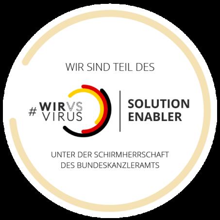 WirVsVirus_Umsetzungsprogramm_Teilnehmerbadge_Solution Enabler_600x600_02